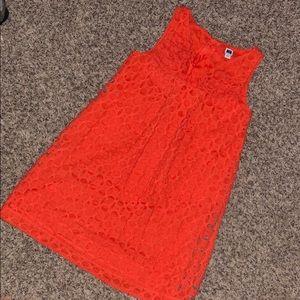 Janie and Jack Orange dress- sleeve less